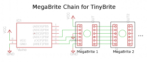 Schematic for simple chain of MegaBrites