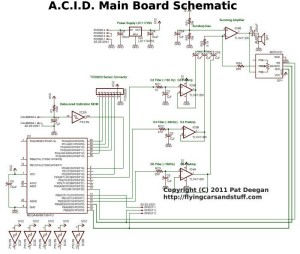 Main board schematic for A.C.I.D.