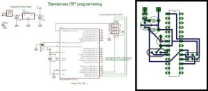 Barebones In-System Programming (ISP) circuit, with a sample layout.
