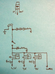 Back-o'the-envelope power supply circuit