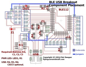BLE Breakout Component Placement