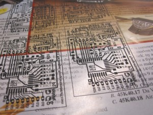 PCB printed on glossy paper