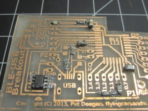 PCB (slightly over-) pasted
