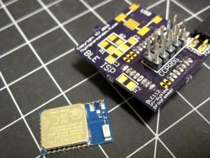 BLE112 and BLE ISP board